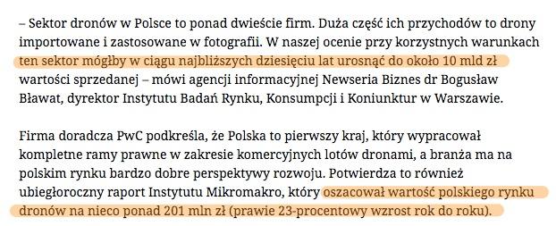polski rynek dronów