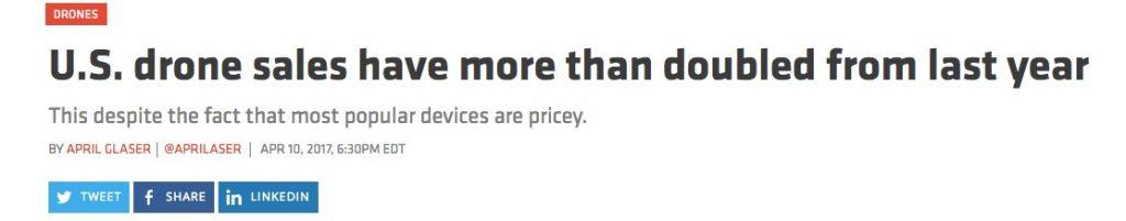 Sprzedaż dronów w USA